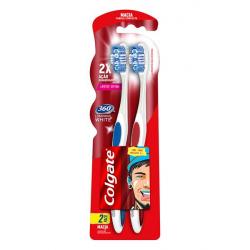 Escova Dental Colgate 360 Luminous White Macia 2un Promo Leve 2 Pague 1