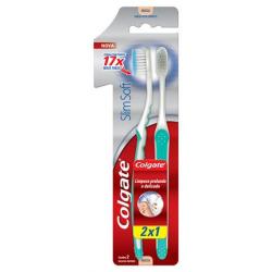 Escova Dental Colgate Slim Soft Macia 2un Promo Leve 2 Pague 1