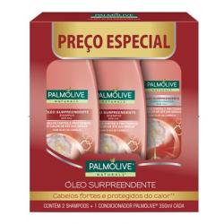 Kit Palmolive Naturals Oleo Surpreendente Promo 2 Shampoos + 1 Condicionador 350ml