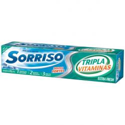 Creme Dental Sorriso Tripla 123 Vitaminas 70g