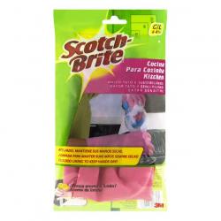 Luva para Cozinha Aroma de Limão Rosa SCOTCH-BRITE Tamanho G Com 6 Pares