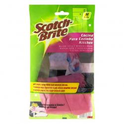 Luva para Cozinha Aroma de Limão Rosa SCOTCH-BRITE Tamanho M Com 6 Pares