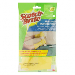 Luva Multiuso Aroma de Limão Amarela SCOTCH-BRITE Tamanho G Com 6 pares