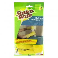 Luva Multiuso Aroma de Limão Amarela SCOTCH-BRITE Tamanho M Com 6 pares
