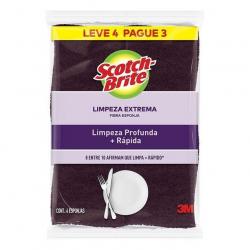 Esponja Limpeza Extrema SCOTCH-BRITE Leve 4 Pague 3 Unidades