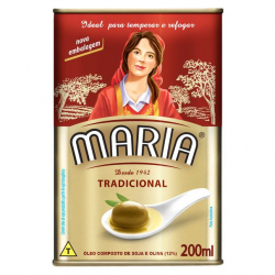 Óleo Composto de Soja e Oliva MARIA Tradicional Lata 200ml