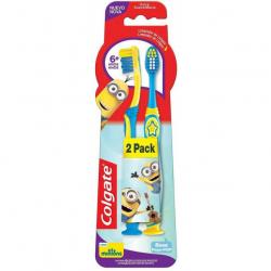 Escova Dental COLGATE Smiles Minions 6+ 2 Unidades