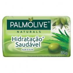 Sabonete Barra PALMOLIVE 85g Hidratação Saudável Aloe e Oliva