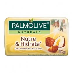 Sabonete Barra PALMOLIVE 85g Nutre e Hidrata Óleo de Amêndoas e Lanolina