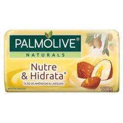 Sabonete Barra PALMOLIVE 150g Nutre e Hidrata Óleo de Amêndoas e Lanolina
