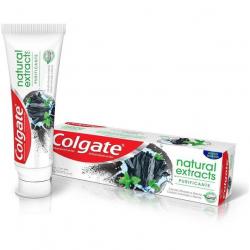 Gel Dental com carvão ativado e menta COLGATE Natural Extracts Purificante 90g