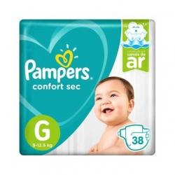 Fralda Descartavel Infantil PAMPERS Confort Sec Tamanho G com 38 Unidades