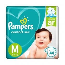 Fralda Descartavel Infantil PAMPERS Confort Sec Tamanho M com 44 Unidades