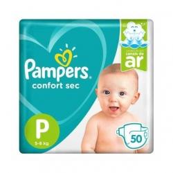 Fralda Descartavel Infantil PAMPERS Confort Sec Tamanho P com 50 Unidades