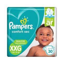 Fralda Descartavel Infantil PAMPERS Confort Sec Tamanho XXG com 30 Unidades