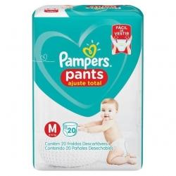 Fralda Descartavel Infantil PAMPERS Pants Tamanho M com 20 Unidades