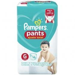 Fralda Descartavel Infantil PAMPERS Pants Tamanho G com 16 Unidades