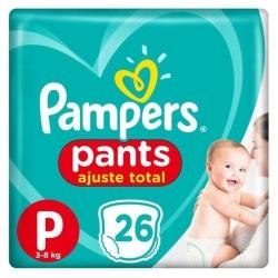 Fralda Descartavel Infantil PAMPERS Pants Tamanho P com 26 Unidades