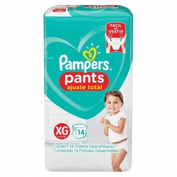 Fralda Descartavel Infantil PAMPERS Pants Tamanho XG com 14 Unidades