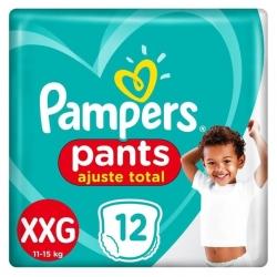 Fralda Descartavel Infantil PAMPERS Pants Tamanho XXG com 12 Unidades