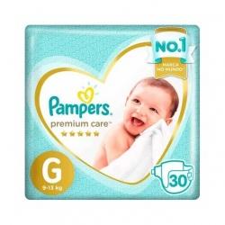 Fralda Descartavel Infantil PAMPERS Premium Tamanho G com 30 Unidades