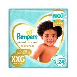 Fralda Descartavel Infantil PAMPERS Premium Tamanho XXG com 24 Unidades