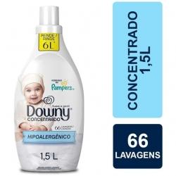 Amaciante de Roupas DOWNY Concentrado Sensitive 1,5Lt