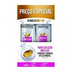 Kit PANTENE Shampoo 400ml + Condicionador 175ml Micelar Purifica e Hidrata