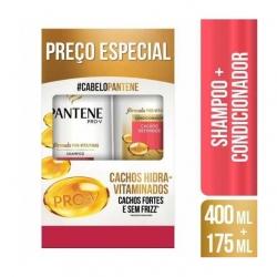 Kit PANTENE Shampoo 400ml + Condicionador 175ml Cachos Hidra-Vitaminados