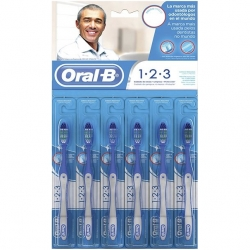 Escova Dental ORAL-B 123 Cartela com 6 Unidades