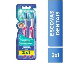 Escova Dental ORAL-B 3d White Tamanho 35 Pague 1 Leve 2
