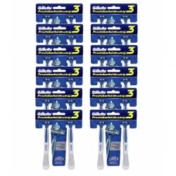 Aparelho de Barbear GILLETTE Prestobarba 3 2 unidades cartela com 12 Unidades