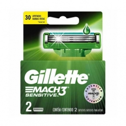Carga para Aparelho de Barbear GILLETTE Mach 3 Sensitive 2 unidades