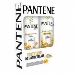 Kit PANTENE Shampoo 175ml + Condicionador Liso Extremo 175ml