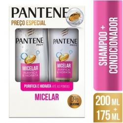 Kit PANTENE Shampoo 175ml + Condicionador Micelar Purifica e Hidrata 175ml