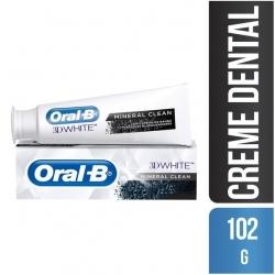 Creme Dental ORAL-B 3D White Mineral Clean 102g