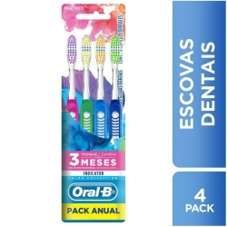 Escova Dental ORAL-B Indicator 35 Color Collection com 4 Unidades
