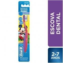 Escova Dental Kids ORAL-B Mickey Stages Com 6 Unidades